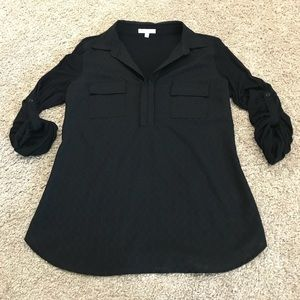 Skies Are Blue black blouse